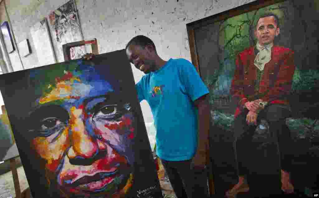 کینیا کے آرٹسٹ ایونز یگون نے صدر اوباما کی تصویر میں حقیقت کا رنگ بھر دیا۔