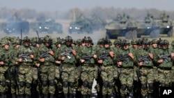 Nga një stërvitje e mëhershme e ushtrisë serbe