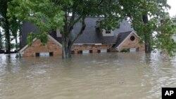 得克萨斯州被洪水淹没的住房 (2017年8月28日)