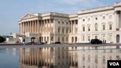 美国国会(美国之音常晓拍摄)