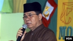 Murad Ebrahim, pemimpin Front Pembebasan Islamis Moro (foto: dok).