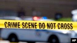 """Arhiva, ilustracija - Policijska traka sa natpisom: """"Mjesto zločina - ne prelazi""""."""