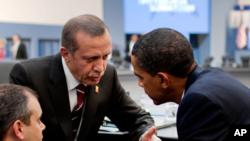 باراک اوباما، رئیس جمهور ایالات متحده و رجب طیب اردوغان، رئیس جمهور ترکیه