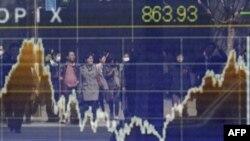 Bảng chỉ số giá chứng khoán ở Tokyo