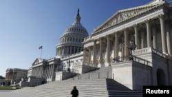 Lối vào Thượng viện Hoa Kỳ tại Capitol Hill, Washington.