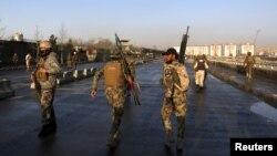Lực lượng an ninh Afghanistan tại Kabul.