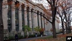 麻薩諸塞州的哈佛大學法學院。(資料照)