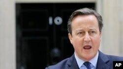 영국 정부가 23일 '2015 전략국방안보검토 (SDSR)' 보고서를 발표했다. 지난 13일 런던 총리 관저에서 ISIL 소속 '지하드 존' 사살에 관한 성명을 발표하는 데이비드 캐머런 영국 총리. (자료사진)