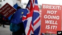 تظاهرات مخالفان برگزیت و مدافعان اتحادیه اروپا در لندن - آرشیو