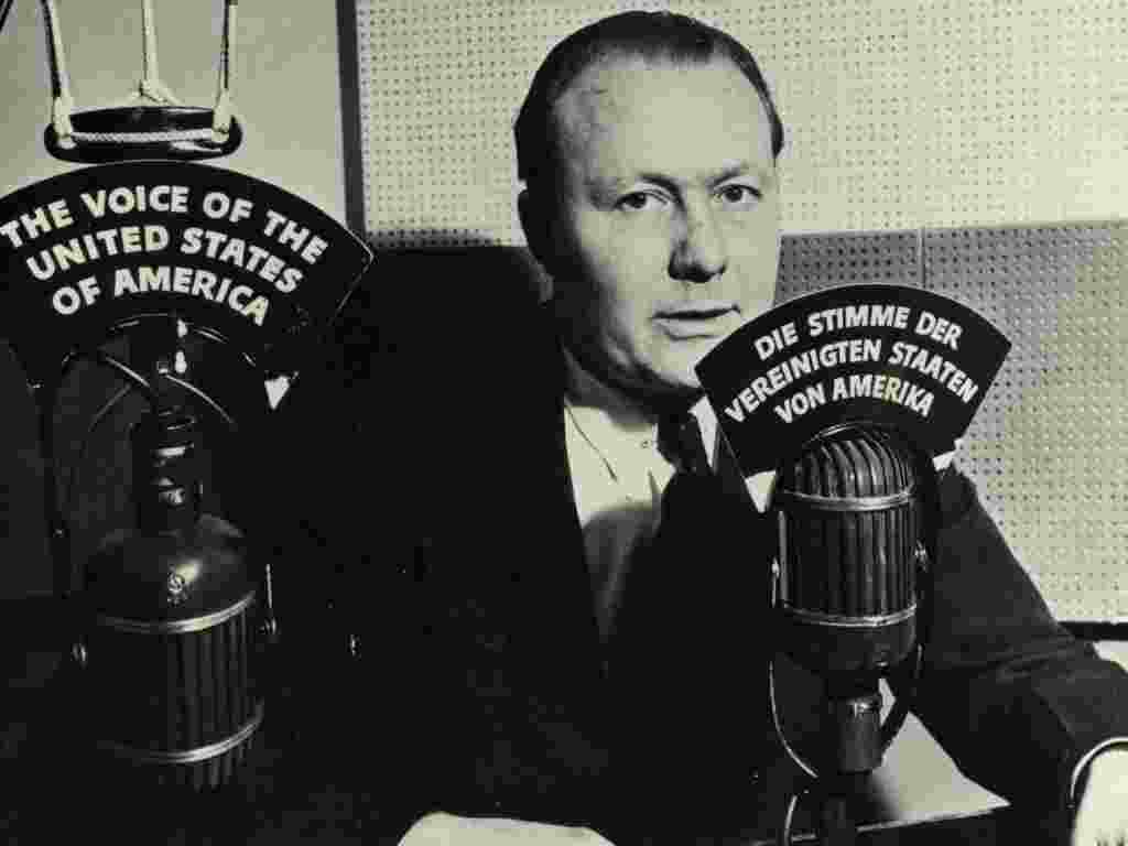 VOA's earliest broadcasts were in German (Robert Bauer, 1942)