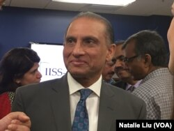 FILE - Aizaz Ahmad Chaudhry, Pakistan's ambassador to the United States, speaks at an event in Washington, July 26, 2017.