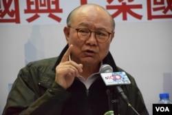 香港特首參選人胡國興。(美國之音湯惠芸攝)