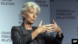 Christine Lagarde au Conseil des Affaires étrangères, à New York, le 26 juillet 2011.