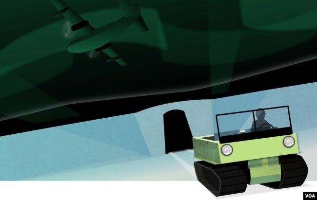 Groenlandia se derrite: Frías raíces de la Guerra Fría. Ilustración de Brian Williamson. VOA.