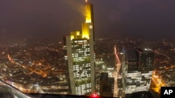 The Commerzbank headquarters photographed in Frankfurt, Germany, Oct. 30, 2014.