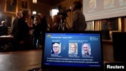 طبعیات کا نوبیل انعام جیتنے والے تین امریکی سائنس دان، 3 اکتوبر 2017