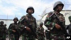 경계근무를 서고있는 인도네시아 군병력(자료사진)