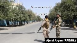 Əfqanıstan təhlükəsizlik qüvvələri Kunduz şəhərində, 31 avqust, 2019.