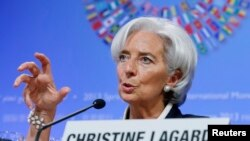 國際貨幣基金組織總裁拉加德發表談話