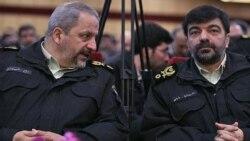 احمدرضا رادان (راست) و اسماعیل احمدی مقدم، فرمانده نیروی انتظامی جمهوری اسلامی