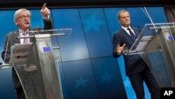 Жан-Клод Юнкер и Председатель Европейского совета Дональд Туск