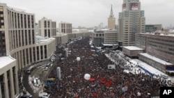 روس: انتخاب میں دھاندلی اورپیوتن کے اقتدارکے خلاف احتجاجی مظاہرہ
