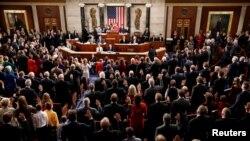Tân Hạ viện Mỹ trong ngày nhóm họp đầu tiên hôm 3/1/2019.