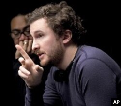 Director of Photography Matthew Libatique and Director Darren Aronofsky on the set of BLACK SWAN.
