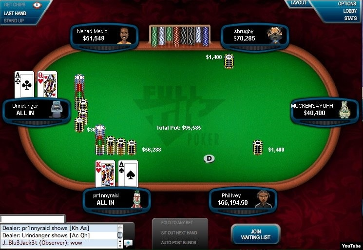 professional online poker player names