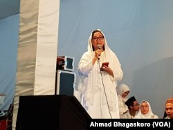 Putri Gus Dur, Alissa Wahid (Foto: VOA/Ahmad Bhagaskoro)
