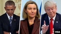 سه واکنش متفاوت از سه مقام درباره توافق هسته ای ایران: ترامپ، موگرینی و اوباما