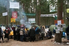 Protest against the Via Baltica Expressway in the Rospuda Valley