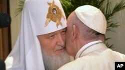 Патриарх Кирилл и Папа Франциск. Гавана, 12 февраля 2016г.