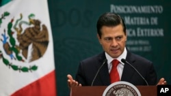 Enrique Peña Nieto, Mexico City, 23 janvier 2017