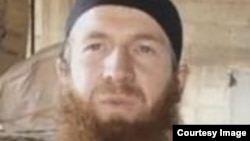 FILE - Tarkhan Batirashvili, also known as Omar the Chechen, is one of the most senior Islamic State military commanders and a former sergeant in the Georgian army. The U.S. is trying to find out whether he was killed last week in an airstrike in Syria.