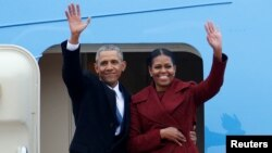 Bračni par Obama (arhivska fotografija)