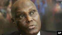 FILE - Nigeria's former Vice President Atiku Abubakar.