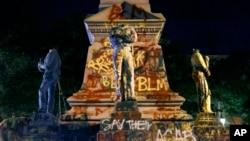 Spomenici generala Konfederacije oštećeni su tokom protesta širom SAD