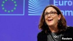 Cecilia Malmström, Commissaire européenne au Commerce, 9 novembre 2016.
