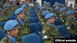 Pripadnici Vojske Srbije pred odlazak u mirovnu misiju Ujedinjenih nacija u Centralnoafričkoj Republici, u Beogradu, 26. februara 2020. (Foto: Ministarstvo odbrane Republike Srbije)