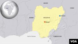 Bản đồ làng Chibok ở Nigeria.