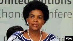 Maite Nkoana-Mashabane, ministra sul-africana dos Negócios Estrangeiros.