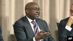 FILE - Former head of the African Development Bank, Donald Kaberuka,