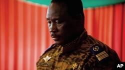 Isaac Zida, Premier ministre de la transition au Burkina Faso ( AP Photo/Theo Renaut)