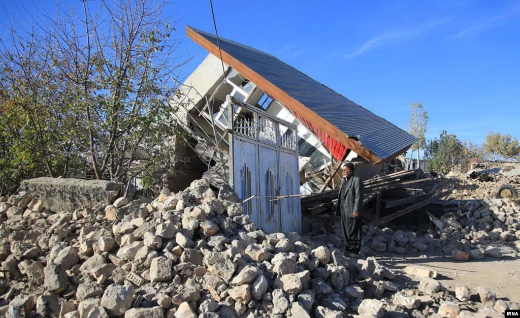 روستای دهجامی بعد از زلزله عکس: سید مصلح پیر خضرانیان