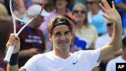 Petenis Swis Roger Federer yang baru saja menjuarai turnamen di Cincinnati Maters dengan mengalahkan Novak Djokovic di final, diunggulkan di tempat pertama dalam turnamen AS Terbuka.