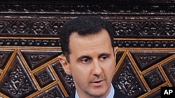 Syrian President Bashar al-Assad, addresses the Parliament, in Damascus, Syria, (file photo)