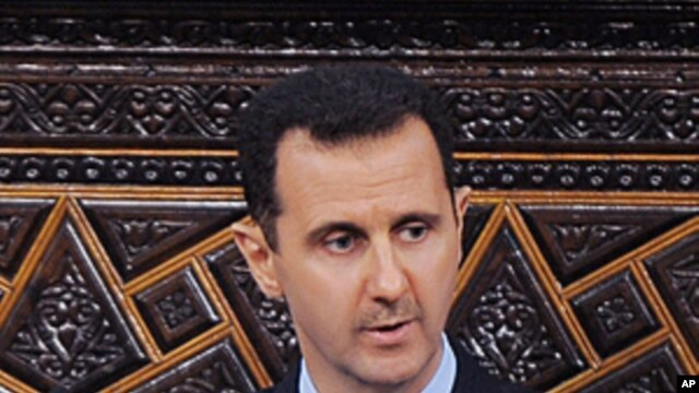 Syrian President Bashar al-Assad, addresses the Parliament, in Damascus, Syria, March 30, 2011 (file photo).