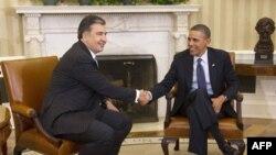 Gruziya rahbari Mixail Saakashvili, Amerika prezidenti Barak Obama Oq uyda