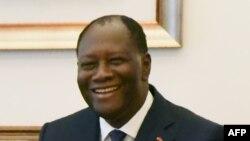 Le président ivoirien Alassane Ouattara à Abidjan, le 26 novembre 2017.